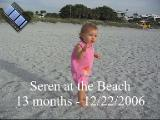 Seren at the beach