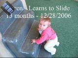 Seren learns to slide